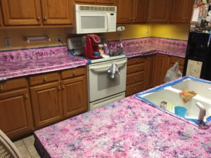 Finished Painted Kitchen Countertops