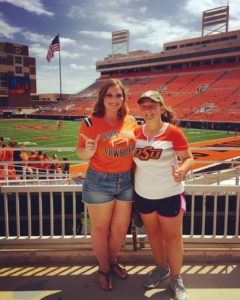 Our first Oklahoma State University football game. 2016